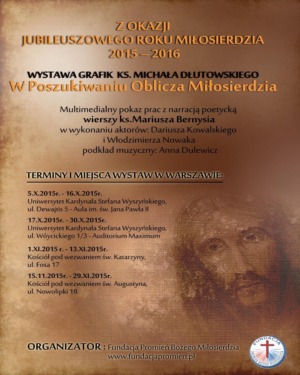 Wystawa W Poszukiwaniu Oblicza Miłosierdzia (Plakat)