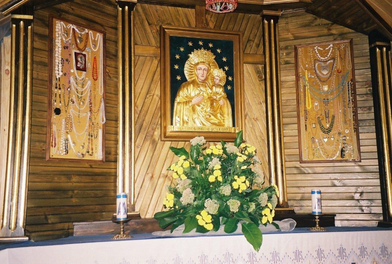 Osuchowa - wnętrze kaplicy obraz MB